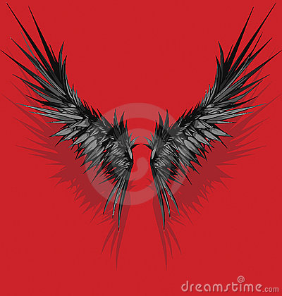 Vector style wings