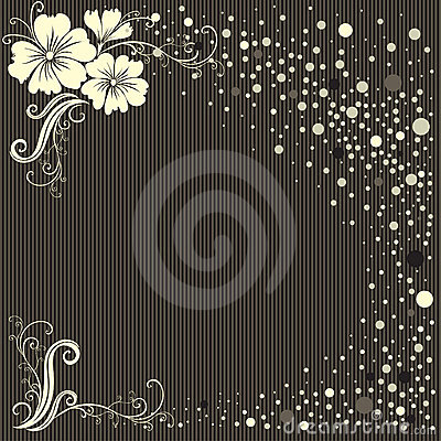 Vector stylish Floral vintage background