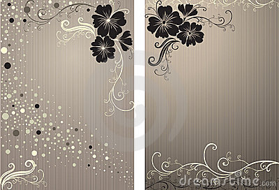 Vector stylish Floral vintage background