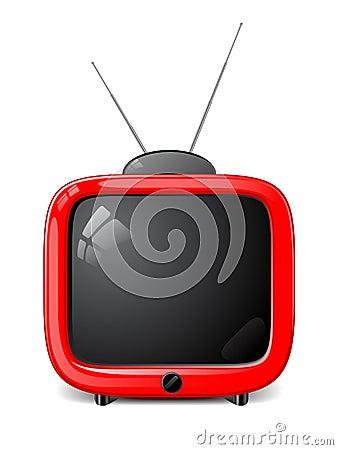 Vector stylish TV