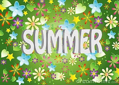 vector, Summer background