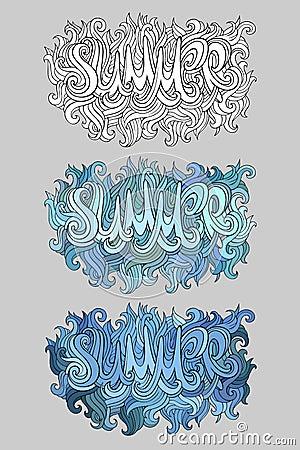 Vector summer hand lettering