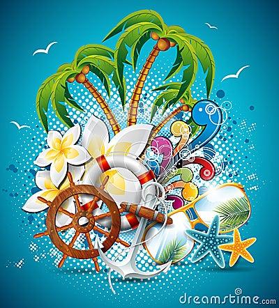 Free Vector Summer Holiday Flyer Design Stock Photos - 31586503