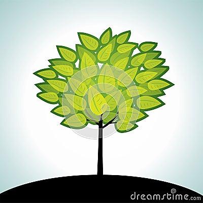 Vector summer tree
