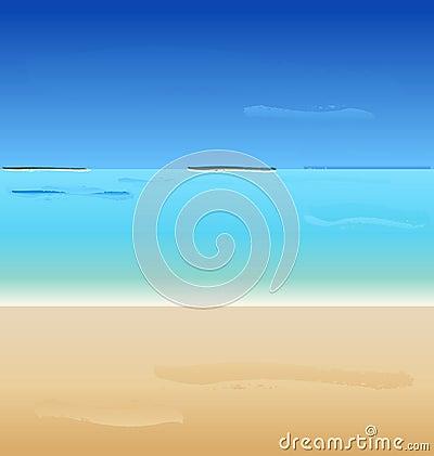 Vector Summertime at the beach