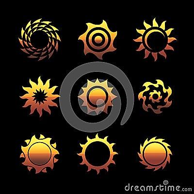 Vector sun logos