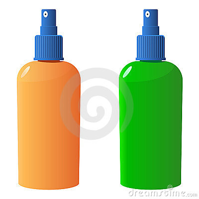 Vector suncare bottles