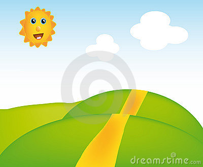 Vector sunny landscape
