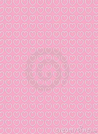 Vector Swatch Heart Striped Fabric Background