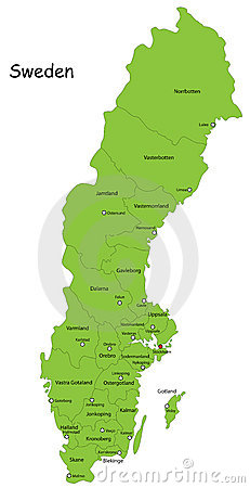 Vector Sweden map