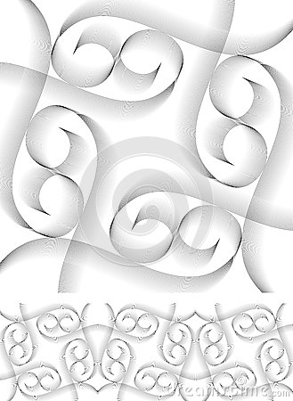 Vector swirly border and object