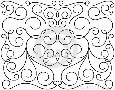 Vector swirly symmetric design