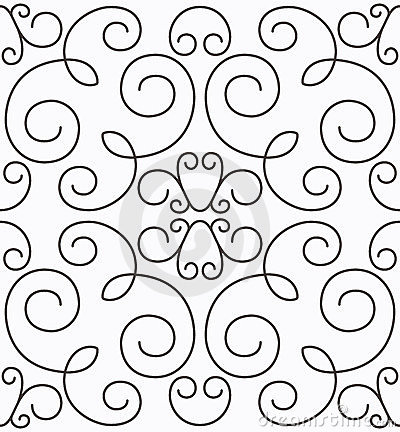 Vector swirly symmetric seamless pattern