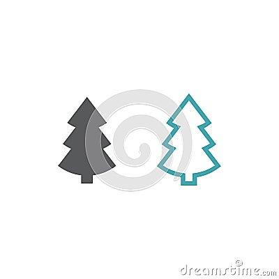 Vector symbol of a fir-tree Stock Photo
