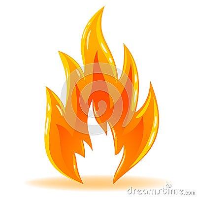 Free Vector Symbol Fire Shiny Flame Royalty Free Stock Photo - 18244875