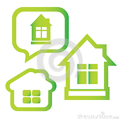 Vector symbol of green house
