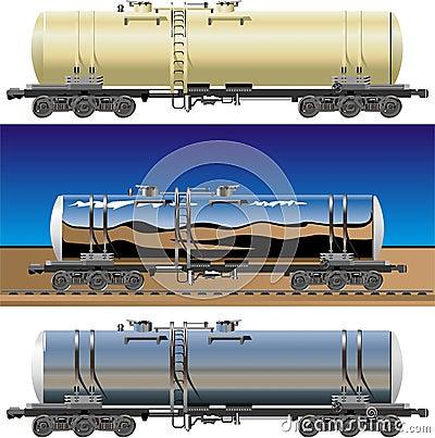 Vector tanker cars