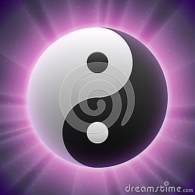 Vector Taoist Yin-yang Symbol
