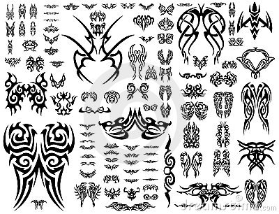 Vector Tatoo collection 101 symbols