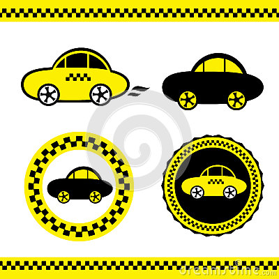 Vector Of A Taxi Stock Photo - Image: 25366110