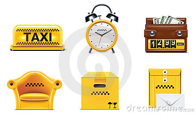 Vector taxi service icons. Part 2