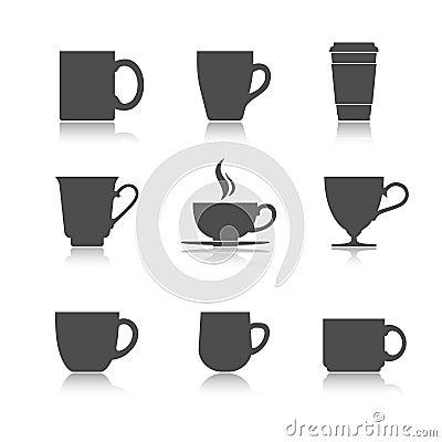 Free Vector Tea Cup Set Stock Photos - 40687883