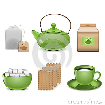 Free Vector Tea Icons Stock Image - 31356131