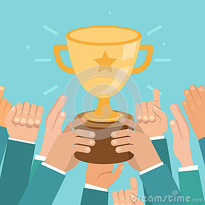 Free Vector Team Victory Concept In Flat Style Stock Photo - 44659010