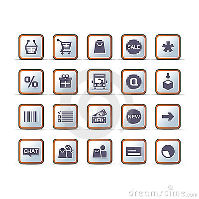 Vector technical ecommerce icon set