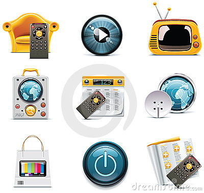 Vector television icons