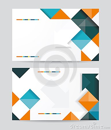 Vector template design with cubes and arrows eleme