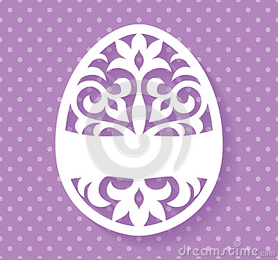 Free Vector Template For Laser Cut Easter Egg Greeting Card, Tag, Invitation Or Interior Element With Floral Ornament. Royalty Free Stock Images - 88948799
