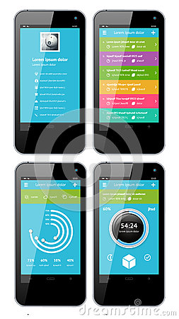 vector template interface for phone