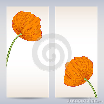 Vector templates poppies graphic designs.