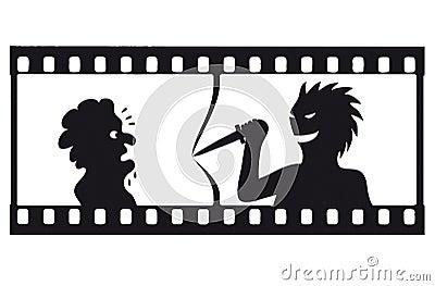 Vector tension filmstrip