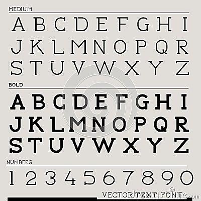 Vector Text Font