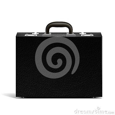 Vector textured black briefcase illustration