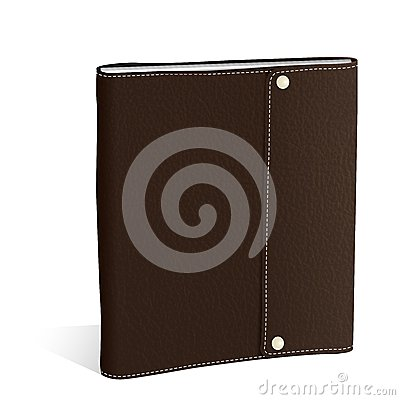 Vector textured brown briefcase illustration