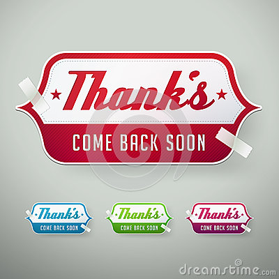 Vector thank you labels
