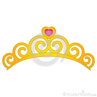 Free Vector Tiara With Heart Emblem. Royalty Free Stock Images - 103495399