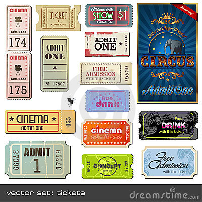 Free Vector Tickets Royalty Free Stock Photography - 10598567