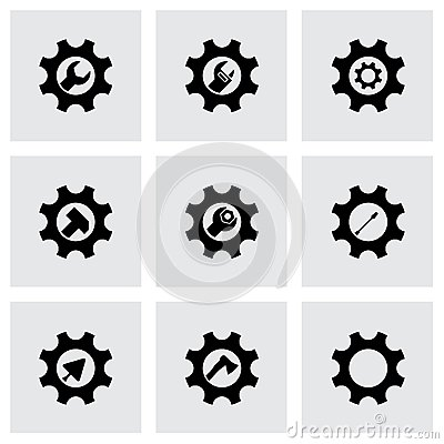 Free Vector Tools In Gear Icon Set Royalty Free Stock Photos - 51233018