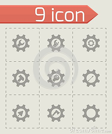 Free Vector Tools In Gear Icon Set Royalty Free Stock Photos - 52775828