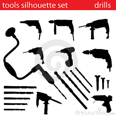 Vector Tools Silhouette Set Royalty Free Stock Photo ...