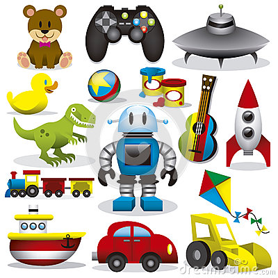 Free Vector Toys Set Royalty Free Stock Image - 32242986