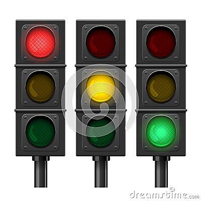 Vector Traffic Lights Vector Illustration