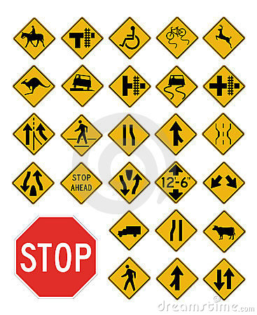 Vector traffic signs collection
