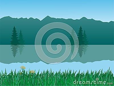 Vector tranquil landscape