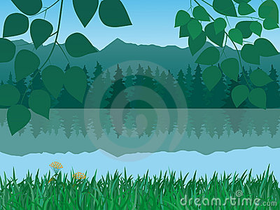 Vector tranquil landscape