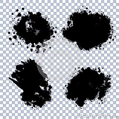 Vector Transparent Blots Set Vector Illustration